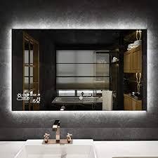 byecold badspiegel mit led beleuchtung wandspiegel badezimmerspiegel lichtspiegel spiegel touchschalter smart wifi antibeschlag wetter datum