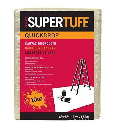 Trimaco Supertuff Quickdrop Canvas Dropcloth - 4x5 ft