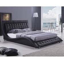 Dublin Modern King Size Platform Bed Black Platform Platform Black