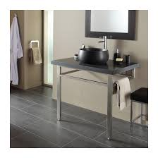 ensemble plan vasque naturelle noir moderne salle de