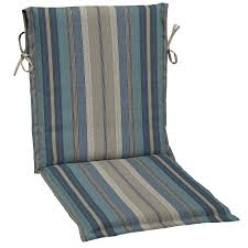 Better Homes And Gardens Patio Furniture Cushions by Shop Allen Roth 1 Piece Stripe Blue Standard Patio Chair Cushion