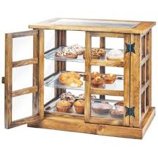 Cal Mil 3621 99 Madera Reclaimed Wood 3 Tier Paneled Bakery Display Case