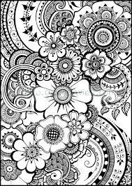A Customer Asked Me To Do Sheet With Just The Beautiful Henna Flowers And Colouring