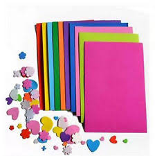 10Pcs EVA Foam DIY Craft Paper Sheets Handmade Kids Sponge Multicolor Thick A4