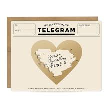 Inklings Paperie Classic Telegram Scratch Off Cards Box of 6