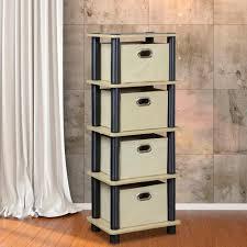 Sterilite 2 Shelf Utility Cabinet by Sterilite 35 5 In H X 18 75 In W X 25 63 In D 4 Drawer Plastic