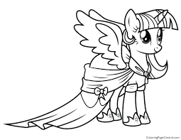 687x531 Twilight Sparkle Coloring Pages Large Size Of Little Pony