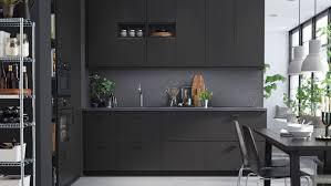 kungsbacka anthracite kitchen black kitchen ikea