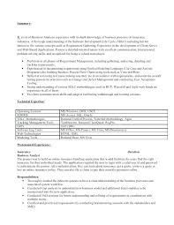 Lead Business Systems Analyst Resume Ocneurotherapy