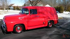 100 Panel Trucks 1956 Ford F100 Truck Delivery Van Rare Fully Loaded No