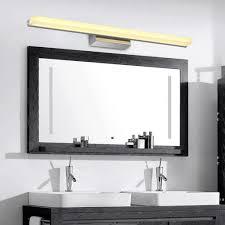biutefang 30w led spiegelleuchten schrankle moderne wasserdicht badbeleuchtung ac85 265v ip44 spiegel lichter wc edelstahl wandleuchte warmweiß