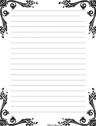 Fancy Letter Writing Paper