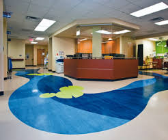 Rubber Floor Treatment In Healthcare Building Dont Retain Stains Odors Are More Sterile