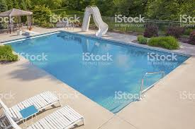Inground Pools With Diving Board And Slide Contemporary Slides Boards
