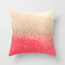 gatsby coral gold throw pillow by monika strigel 20 00 look
