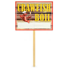 Crawfish Boil Table Decorations by Crawfish Boil Yard Sign 54910 Mardigrasoutlet Com