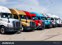 100 Used Freightliner Trucks Indianapolis Circa June 2018 Colorful Stock