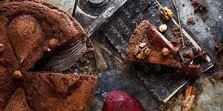 schoko rotweinkuchen mit birnen
