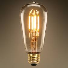 dimmable vintage led filament light bulb st58 edsion style 6w