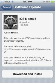 iOS 5 beta 5 IPSW Firmware Download iPhone iPad iPod touch