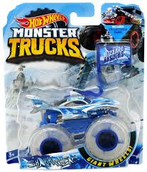 100 Shark Wreak Monster Truck Hot Wheels S Blizzard Bashers 164 DieCast