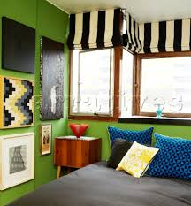 Colorful Bedroom In 60s Style