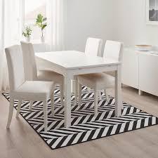 skarrild teppich flach gewebt drinnen drau weiß schwarz 160x230 cm