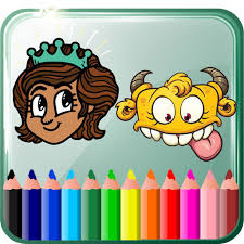 Draw Games Beauty And Monster Coloring Book App Logo