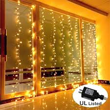 AMARS Safe Voltage Bedroom String LED Curtain Lights Waterfall Window Outdoor Indoor For Wedding Party Home Living Room Warm White