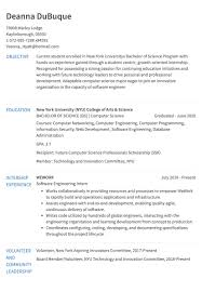 Internship Resume Example | Resume.com Software Engineer Developer Resume Examples Format Best Remote Example Livecareer Guide 12 Samples Word Pdf Entrylevel Qa Tester Sample Monstercom Template Cv Request For An Entrylevel Software Engineer Resume Feedback 10 Example Etciscoming Account Manager Disnctive Career Services Development And Templates