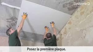 plaquer un plafond sous rant après isolation