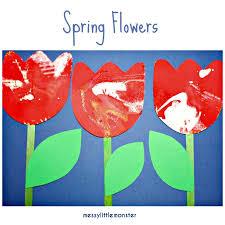 Spin Art Flower Paintings