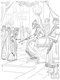 Coloring Pages Queen Esther And King Xerxes Christianity Bible