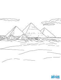 PYRAMIDS OF GIZA For Kids Coloring Page Color Online Print
