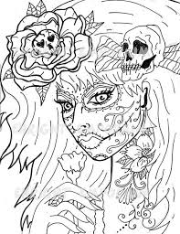 Day Of The Dead Girl Coloring Pages Download Image