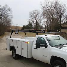 Summary -> Pick Up Truck Ladder Rack W Truck Tool Boxes And Drawers