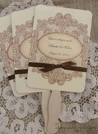 Wedding Favors Fans Rustic Country Lace Summer
