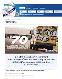 Why This MICHELIN® Tire Promo Is Essentially A Scam - Connecting The ... Michelin Toolbox Pick Up By Yee Olvera Hamilton Cianciolo Keys Heavy Truck Xzl Tyres For Daf Dealer Tbf Thompsons Xf 510 Demonstrator Michelin Tire Data Book June Pdf Gerry Jones Transport Amongst First To Fit New X Multi D Whosale In Europe With 60 Year Experience Vrakking Tires Launches Energy Tire Regional Transport 750 16 Light Semi Sizes Made India Guard Radial Truck Tyre Launched At Inr