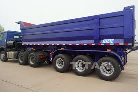 100 Tri Axle Truck Titan Widely Used Side Dump Trailer Tipper