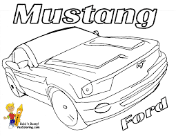 Mustang Sports Car Coloring Page At YesColoring