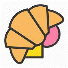 Croissant Sandwich Fast Food Junk Icon