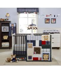 amazon com kids line oxford bear 4 piece crib bedding set
