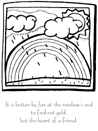 Rainbows Rainbow1 Bible Coloring Pages