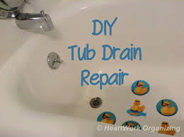 diy bathtub drain repair heartworkorg com