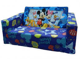 Brilliant Kids Flip Out Sofa Bed B124 Mickey Mouse Fold Australia