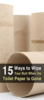15 Ways To Wipe Your Butt When The Toilet Paper Is Gone