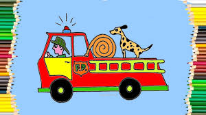 Fire Truck Coloring Pages - YouTube