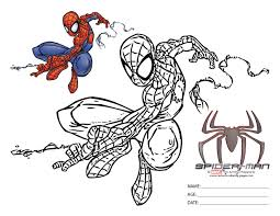Spider Man Colouring Pages