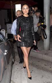 olivia culpo in black dress leaving craigs 16 gotceleb