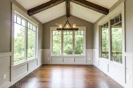 The Vaulted Ceiling Of This Sunroom Is An Excellent Place For Faux Beams